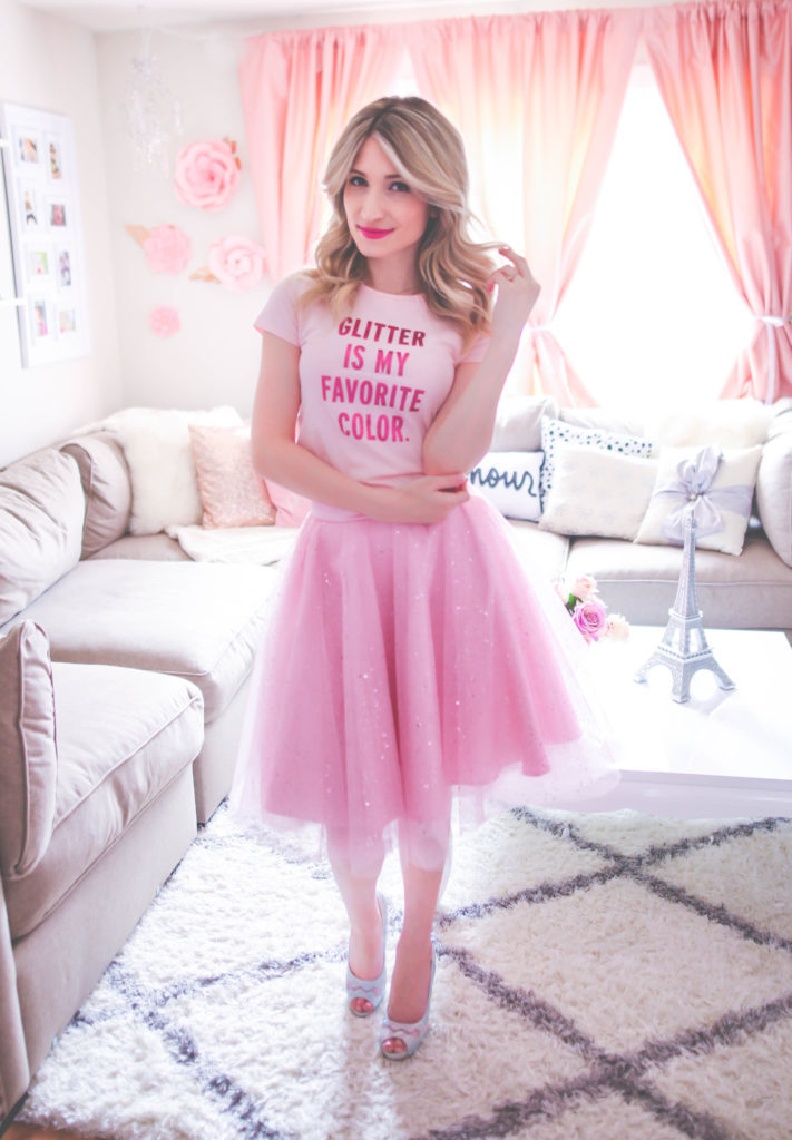 It goes without saying that tulle skirts are one of the absolute favorites of mine within my girl & feminine wardrobe so it's only appropriate that I tell you right here and right now the 5 reasons why I absolutely love tulle skirts. They're a wonderful way to make life just that much funner. Ballerinas and princesses have been among some of my favorites since I was a little and not to mention they are just so lovely and one thing they tend to have in common is tulle! Realistically most of us aren't ballerinas or princesses and we don't really want to walk around looking just like one but with tulle skirts we can style a look that still just as lovely but a more refined and realistic way to wear the ballerina and princesses favorite. That's what makes tulle so fun! Tulle skirts are so incredibly girly as well and you know that's the main reason I fell in love with them! I love just about everything and any thing girly and tulle skirts are so so girly! theyre statement pieces-I can't even begin to tell you how many times my tulle skirts strike up conversations when were out and about. Seriously I have made so many darling aqaintenses and new friends from ladies telling me that they love my skirt! And trust me this is a good thing because these skirts are like ice breakers, and they make you more approachable! I think this is really is a challenge for all ladies and as we get older women tend to keep more to themselves and don't seem comfortable with trying to make new friends. they can be incredibly versatile- I absolutely love this fact about tulle skirts because being able to create multiple looks with just one piece from my wardrobe has to be one of my most favorite things! With tulle skirts you can dress your look way or down, it doesn't have to be one or the other and that's what's so great about them!