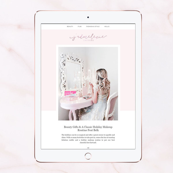 Blogging pretty with the help of Adored Designs
