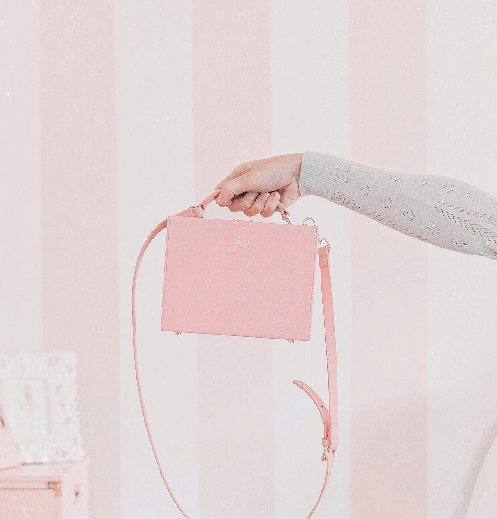 A Beautiful Peony Pink Box Bag by The Daily Edited