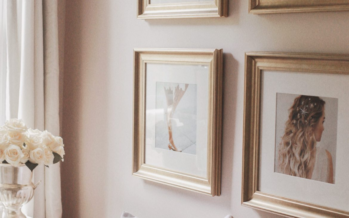 A glamorous Inspo Wall with Framebridge